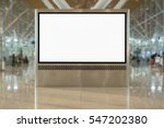 empty blank billboard pop muck... | Shutterstock . vector #547202380