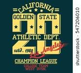 los angeles athletics... | Shutterstock .eps vector #547206010