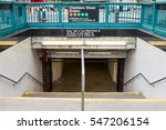 chambers street subway station... | Shutterstock . vector #547206154