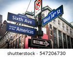intersection signs of broadway  ... | Shutterstock . vector #547206730