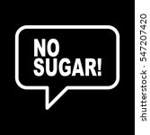 no sugar retro speech balloon | Shutterstock .eps vector #547207420