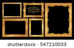set of gold photo frame with... | Shutterstock .eps vector #547210033