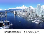 Stock photo view of false creek and the burrard street bridge in vancouver canada 547210174