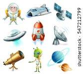 space  spaceship  planet ... | Shutterstock .eps vector #547212799
