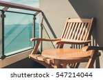 wooden chairs with beautiful... | Shutterstock . vector #547214044