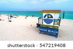 miami beach  florida  usa  ... | Shutterstock . vector #547219408