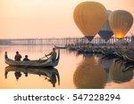 Sunrise At U Bein Bridge With...