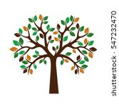 color tree. vector illustration. | Shutterstock .eps vector #547232470