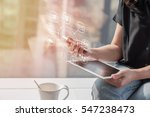digital marketing via multi... | Shutterstock . vector #547238473