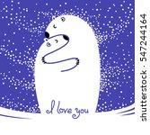 two polar bears hugging each... | Shutterstock .eps vector #547244164