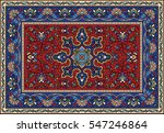 colorful mosaic rug with...   Shutterstock .eps vector #547246864