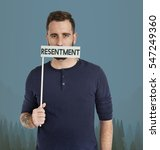 Small photo of Adult Male Resentment Unhappy Concept