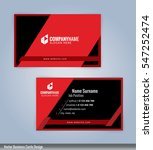 black and red modern business... | Shutterstock .eps vector #547252474