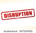 illustration of disruption text  | Shutterstock .eps vector #547254550