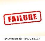illustration of failure text  | Shutterstock .eps vector #547255114