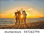 group of happy young people... | Shutterstock . vector #547262794