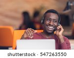 customer service agent in an... | Shutterstock . vector #547263550
