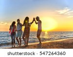 group of happy young people... | Shutterstock . vector #547264360