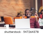 african american businessman... | Shutterstock . vector #547264378