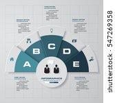 simple editable 5 steps chart... | Shutterstock .eps vector #547269358