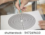 Stock photo senior citizens working on cognitive mind puzzles rehabilitation theme 547269610
