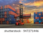 industrial container yard for... | Shutterstock . vector #547271446