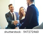 business people shaking hands ... | Shutterstock . vector #547272460