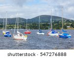 yachts moored in ullswater in...