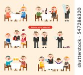restaurant customer food and... | Shutterstock .eps vector #547286320