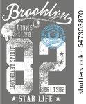 new york basketball college... | Shutterstock .eps vector #547303870