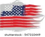 american flag grunge style... | Shutterstock .eps vector #547310449