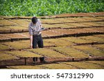 happy farmers using digital... | Shutterstock . vector #547312990