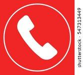 telephone handset symbol ... | Shutterstock .eps vector #547313449