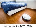 robotic vacuum cleaner on...   Shutterstock . vector #547313704
