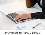 business woman is reviewing the ... | Shutterstock . vector #547315438