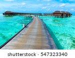 tropical beach in maldives... | Shutterstock . vector #547323340