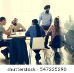 people meeting seminar office... | Shutterstock . vector #547325290