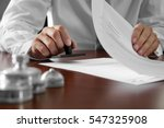 notary public in office... | Shutterstock . vector #547325908