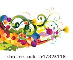 decorative colorful floral...