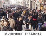 hundreds of diverse people... | Shutterstock . vector #547326463