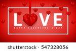 red banner for happy valentine... | Shutterstock .eps vector #547328056