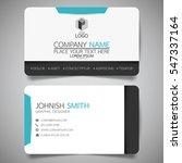 blue modern creative business... | Shutterstock .eps vector #547337164