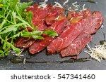 beef carpaccio | Shutterstock . vector #547341460