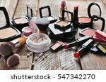 set of decorative cosmetics on... | Shutterstock . vector #547342270