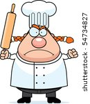 a cartoon chef with an angry... | Shutterstock .eps vector #54734827