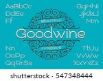 classic decorative font with... | Shutterstock .eps vector #547348444