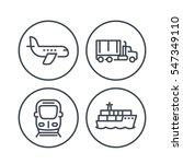 transportation industry line... | Shutterstock .eps vector #547349110