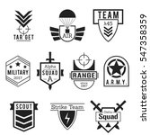 military army like badges logos ... | Shutterstock .eps vector #547358359