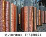 copper wire bobbin | Shutterstock . vector #547358836