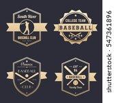 baseball club  team logo ... | Shutterstock .eps vector #547361896